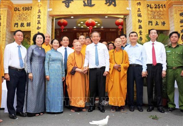 Phó Thủ tướng Trương Hoà Bình chúc mừng Đại lễ Phật đản tại Thành phố Hồ Chí Minh
