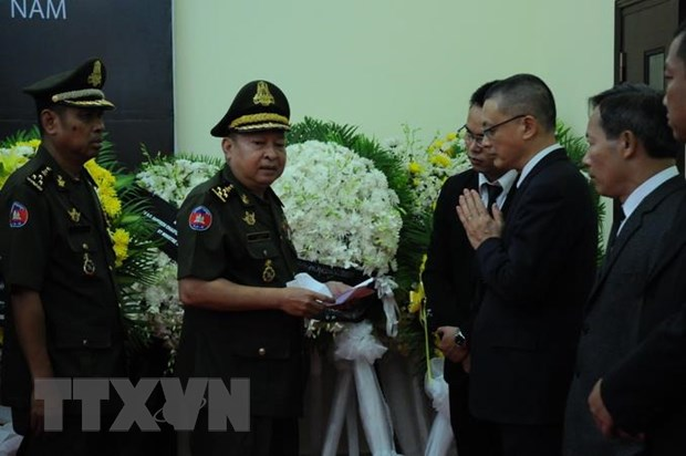 Tướng lĩnh, sỹ quan quân đội Campuchia viếng Đại tướng Lê Đức Anh