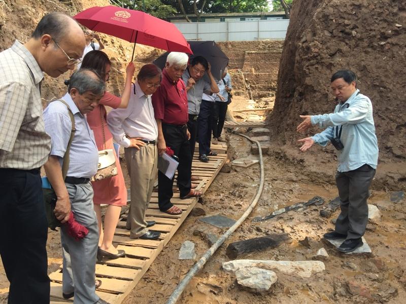 Phát hiện nhiều dấu tích kiến trúc đặc sắc tại khu vực chính điện Kính Thiên