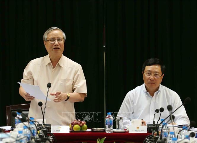 Tiểu ban Văn kiện Đại hội XIII làm việc với Ban cán sự đảng Bộ Ngoại giao