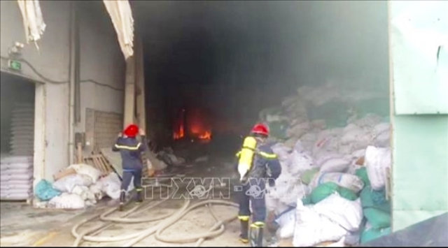 Bình Dương: Thông tin chính thức về vụ cháy trong Khu công nghiệp Sóng Thần 2
