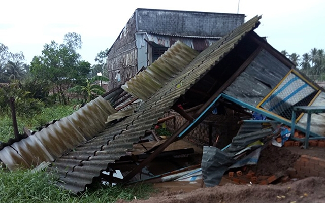 Mưa lớn gây nhiều thiệt hại tại một số địa phương