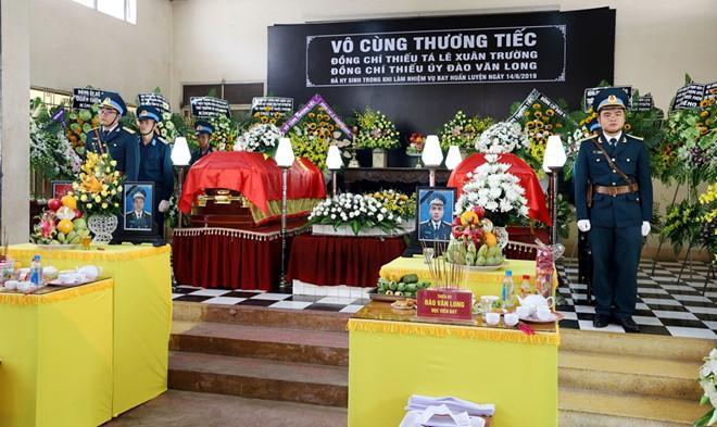 Tổ chức trọng thể lễ viếng và truy điệu hai phi công hy sinh khi làm nhiệm vụ