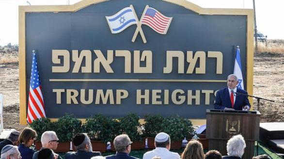 Israel công bố khu tái định cư mang tên Tổng thống Mỹ D.Trump tại Cao nguyên Golan