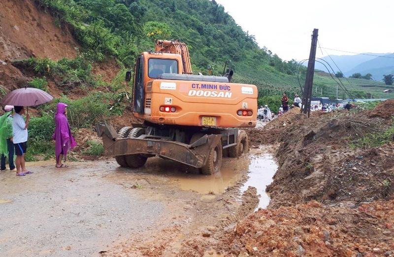 Mưa lớn gây nhiều thiệt hại tại một số tỉnh miền núi phía Bắc