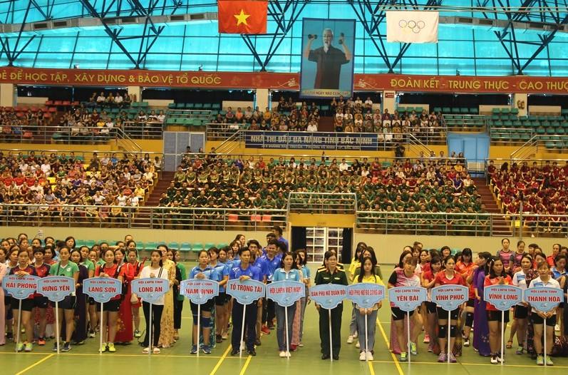 Gần 300 vận động viên tham gia Liên hoan thể dục - thể thao phụ nữ toàn quốc