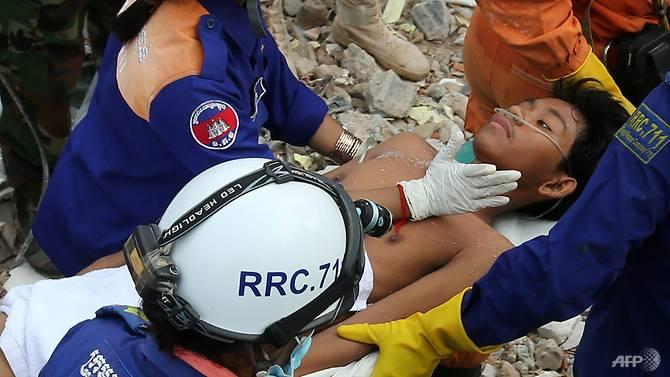 Tìm thấy 28 thi thể sau vụ sập nhà tại Campuchia