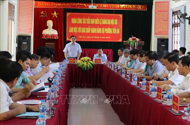Đoàn công tác Tiểu ban Điều lệ Đảng Đại hội XIII làm việc tại tỉnh Bắc Ninh   