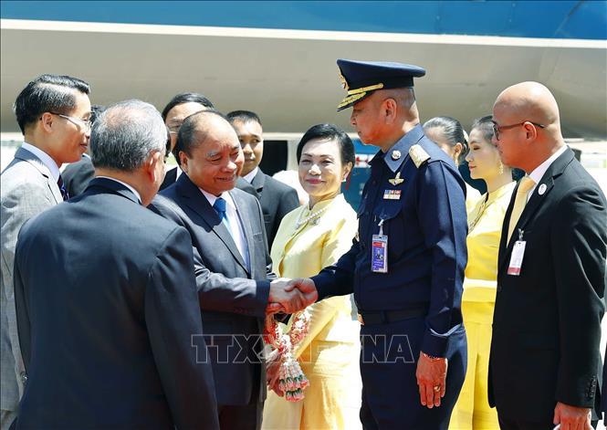 Thủ tướng tới Thủ đô Bangkok, Thái Lan
