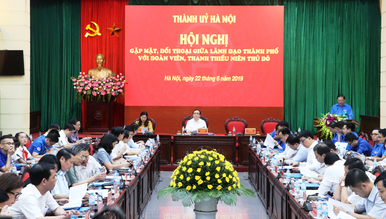 Bí thư Thành ủy Hà Nội đối thoại với đoàn viên, thanh thiếu nhi Thủ đô