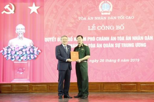 Trao Quyết định bổ nhiệm Phó Chánh án Tòa án nhân dân tối cao, Chánh án Tòa án Quân sự Trung ương