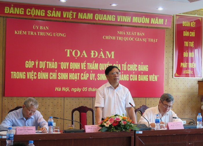Thẩm quyền của tổ chức đảng trong việc đình chỉ sinh hoạt cấp ủy, sinh hoạt đảng của đảng viên