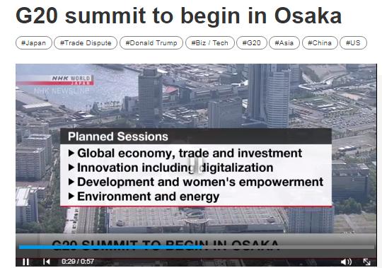 Hội nghị thượng đỉnh G20 chính thức khai mạc tại Osaka (Nhật Bản)