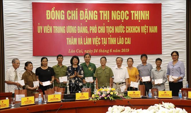 Phó Chủ tịch nước Đặng Thị Ngọc Thịnh thăm và làm việc tại tỉnh Lào Cai