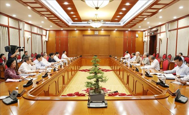 Tổng Bí thư, Chủ tịch nước Nguyễn Phú Trọng chủ trì cuộc họp Bộ Chính trị về phê duyệt quy hoạch BCHTW khóa XIII