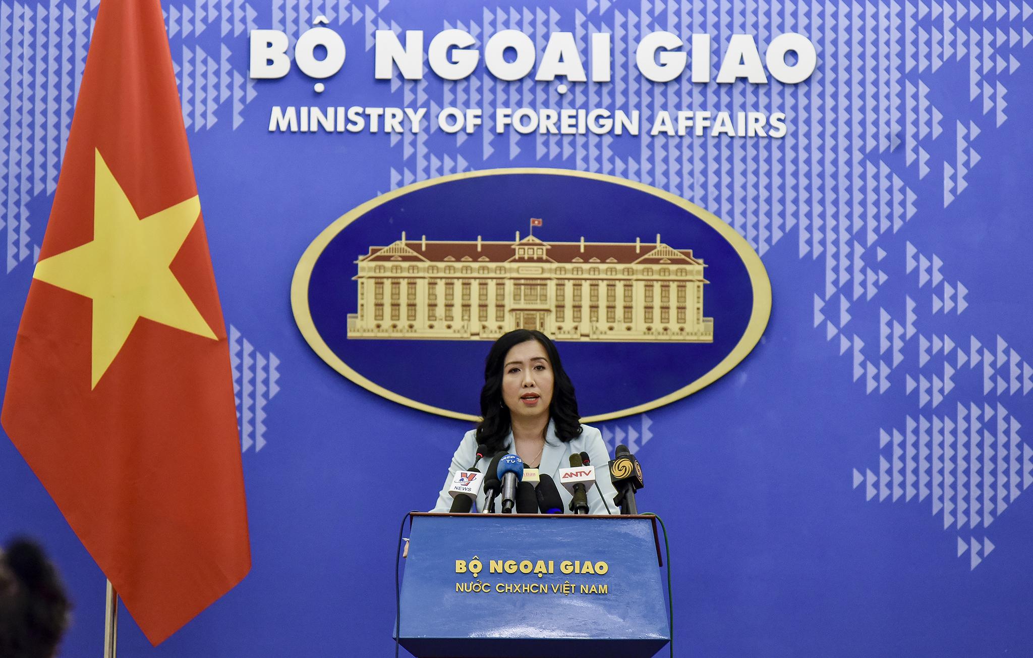Việt Nam kiên quyết đấu tranh bảo vệ chủ quyền các vùng biển của mình ở Biển Đông