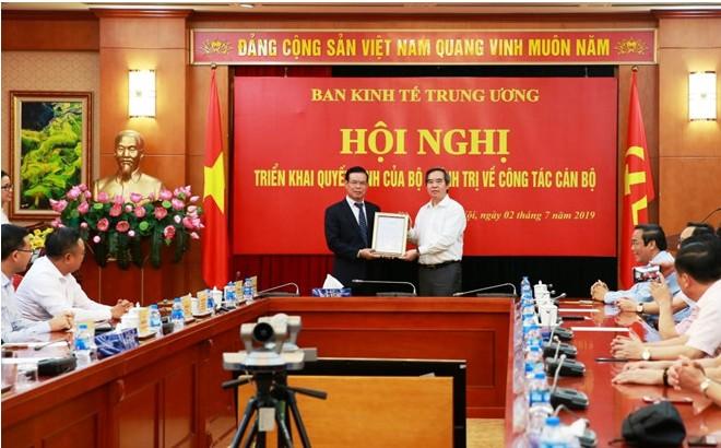 Đồng chí Triệu Tài Vinh được điều động làm Phó Trưởng Ban Kinh tế Trung ương