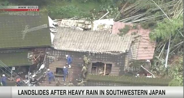 Nhật Bản tiếp tục cảnh báo nguy cơ lũ lụt và sạt lở đất do mưa lớn