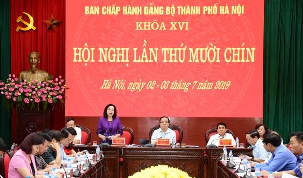 Hà Nội thi hành kỷ luật 18 tổ chức đảng và 442 đảng viên