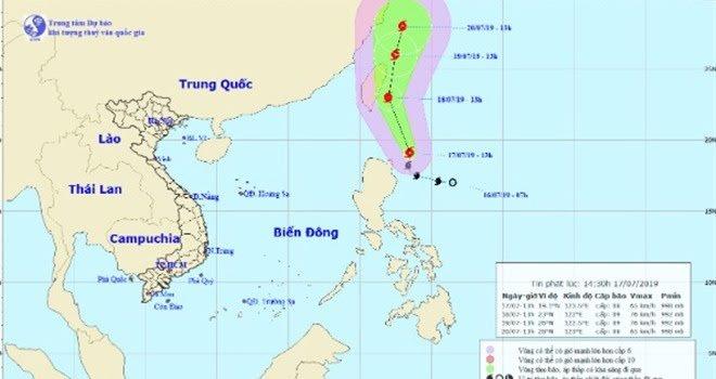 Bão Danas và áp thấp nhiệt đới gây rủi ro thiên tai cấp 3 trên vùng Đông Bắc Biển Đông  