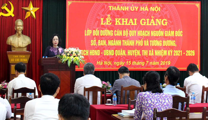 Hà Nội: Khai giảng lớp bồi dưỡng cán bộ quy hoạch nguồn