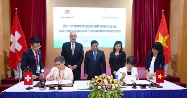 Ký kết hợp tác phát triển khu công nghiệp sinh thái tại Việt Nam với Thụy Sỹ