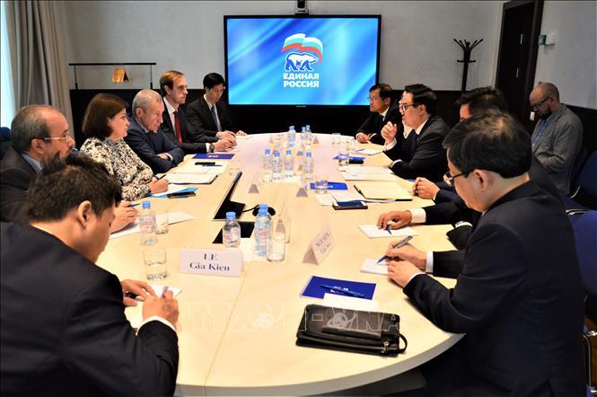 Đoàn đại biểu Đảng Cộng sản Việt Nam thăm và làm việc tại LB Nga