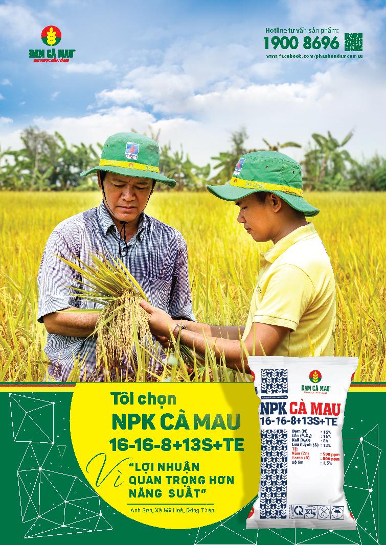 NPK Cà Mau gia nhập thị trường phân bón chất lượng cao
