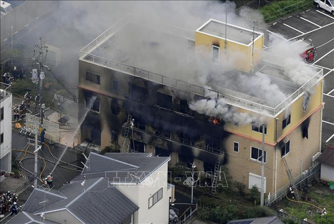Vụ cháy xưởng phim ở Nhật Bản: Thủ tướng S.Abe chia buồn  - Số thương vong tiếp tục tăng