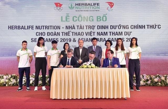 Herbalife tài trợ dinh dưỡng cho Đoàn Thể thao Việt Nam dự SEA Games 2019