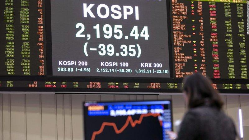 Chứng khoán Hàn Quốc giảm sau khi Triều Tiên phóng tên lửa