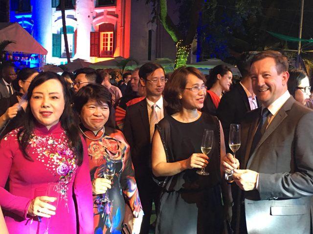 Đại sứ quán Pháp tổ chức tiệc mừng Quốc khánh