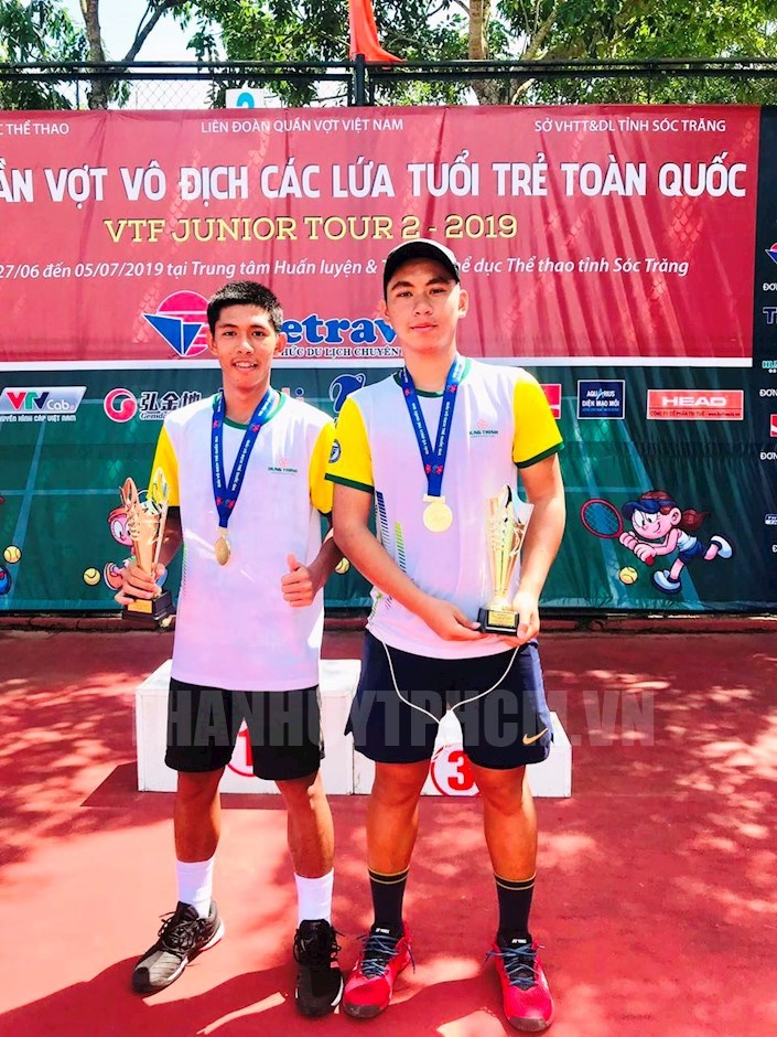 TP. Hồ Chí Minh tiếp tục dẫn đầu giải quần vợt các lứa tuổi trẻ toàn quốc 2019