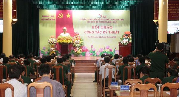 Hội thảo khoa học Công tác kỹ thuật giữ gìn lâu dài, bảo vệ tuyệt đối an toàn thi hài Chủ tịch Hồ Chí Minh