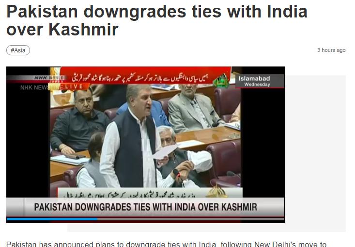 Pakistan hạ cấp quan hệ ngoại giao với Ấn Độ
