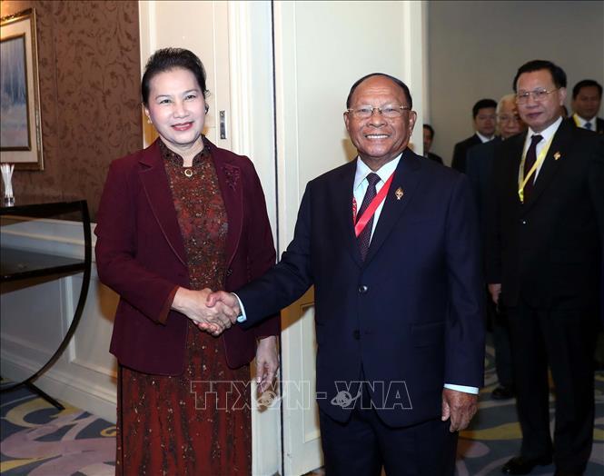 Chủ tịch Quốc hội Nguyễn Thị Kim Ngân hội kiến Chủ tịch Quốc hội Vương quốc Campuchia