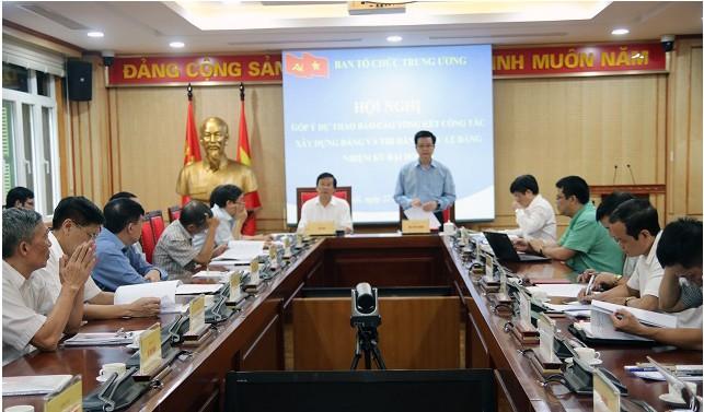 Góp ý dự thảo Báo cáo tổng kết công tác xây dựng Đảng