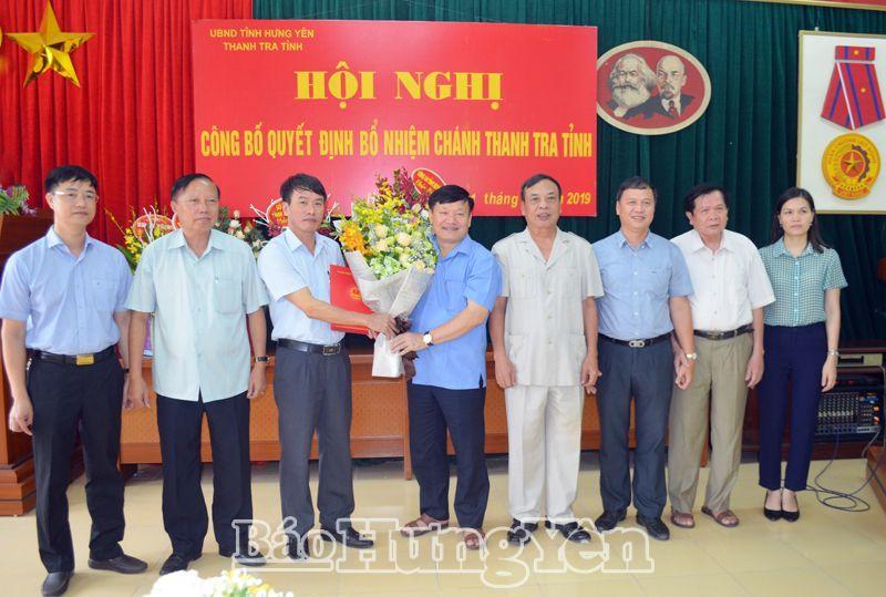 Hưng Yên công bố bổ nhiệm một số chức danh lãnh đạo