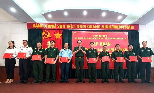Tập huấn nghiệp vụ công tác lịch sử quân sự