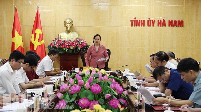 Hà Nam: Chuẩn bị về mọi mặt để tổ chức thành công Đại hội Đảng các cấp