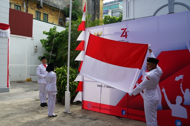 Kỷ niệm 74 năm Quốc khánh Indonesia