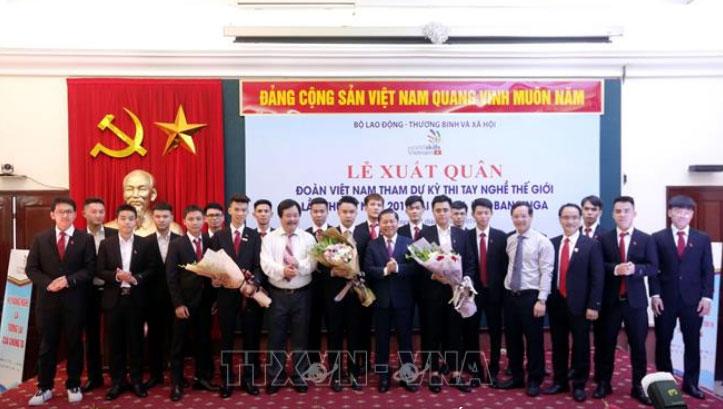 Đoàn Việt Nam xuất quân tham dự Kỳ thi tay nghề thế giới lần thứ 45