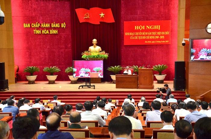 Triển khai sâu rộng đợt sinh hoạt chuyên đề 50 năm thực hiện Di chúc của Chủ tịch Hồ Chí Minh
