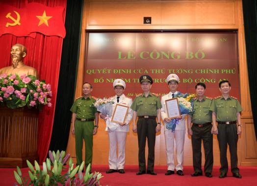 Thủ tướng Chính phủ bổ nhiệm hai Thứ trưởng Bộ Công an