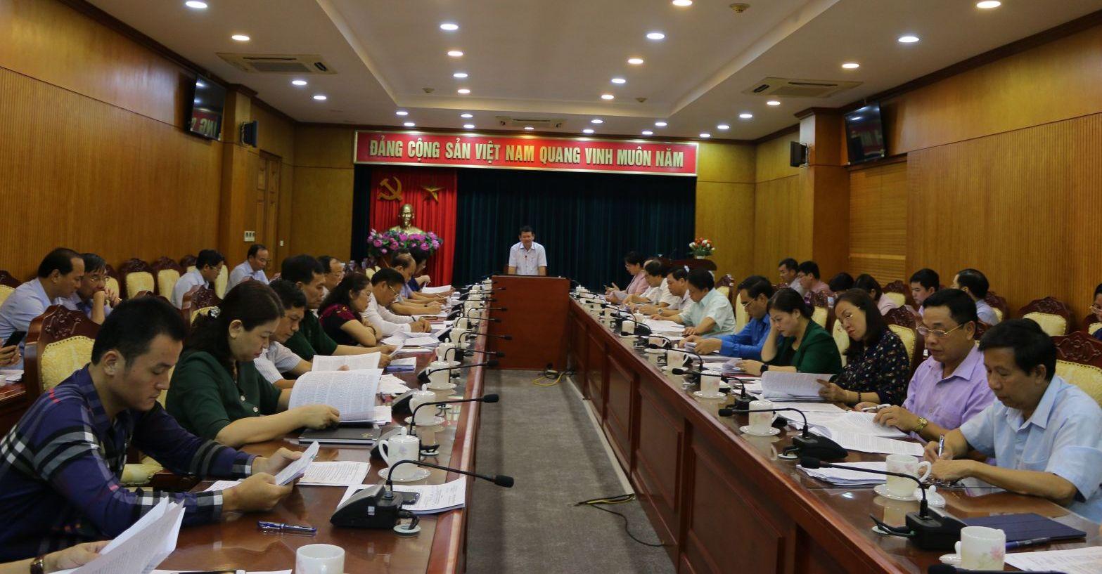 Tiểu ban Văn kiện Đại hội Đảng bộ tỉnh Lào Cai lần thứ XVI: Cho ý kiến vào dự thảo Báo cáo chính trị