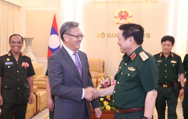 Tiếp tục hợp tác chặt chẽ giữa 2 Bộ Quốc phòng Việt Nam - Lào