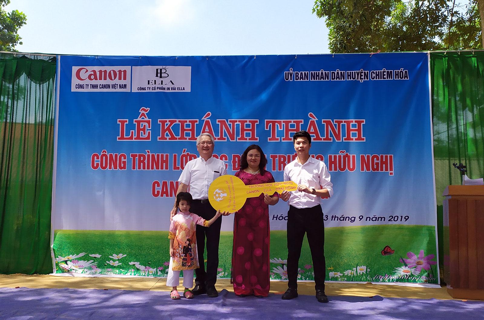 """Khánh thành điểm trường thuộc """"Chuỗi trường học hữu nghị Canon"""" tại Tuyên Quang"""