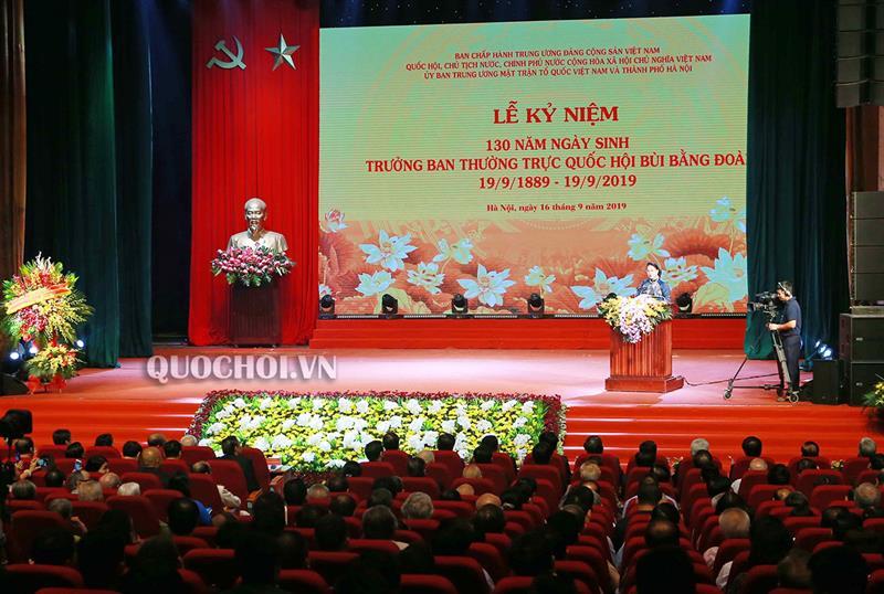 Kỷ niệm trọng thể 130 năm ngày sinh Trưởng Ban Thường trực Quốc hội Bùi Bằng Đoàn  🎥