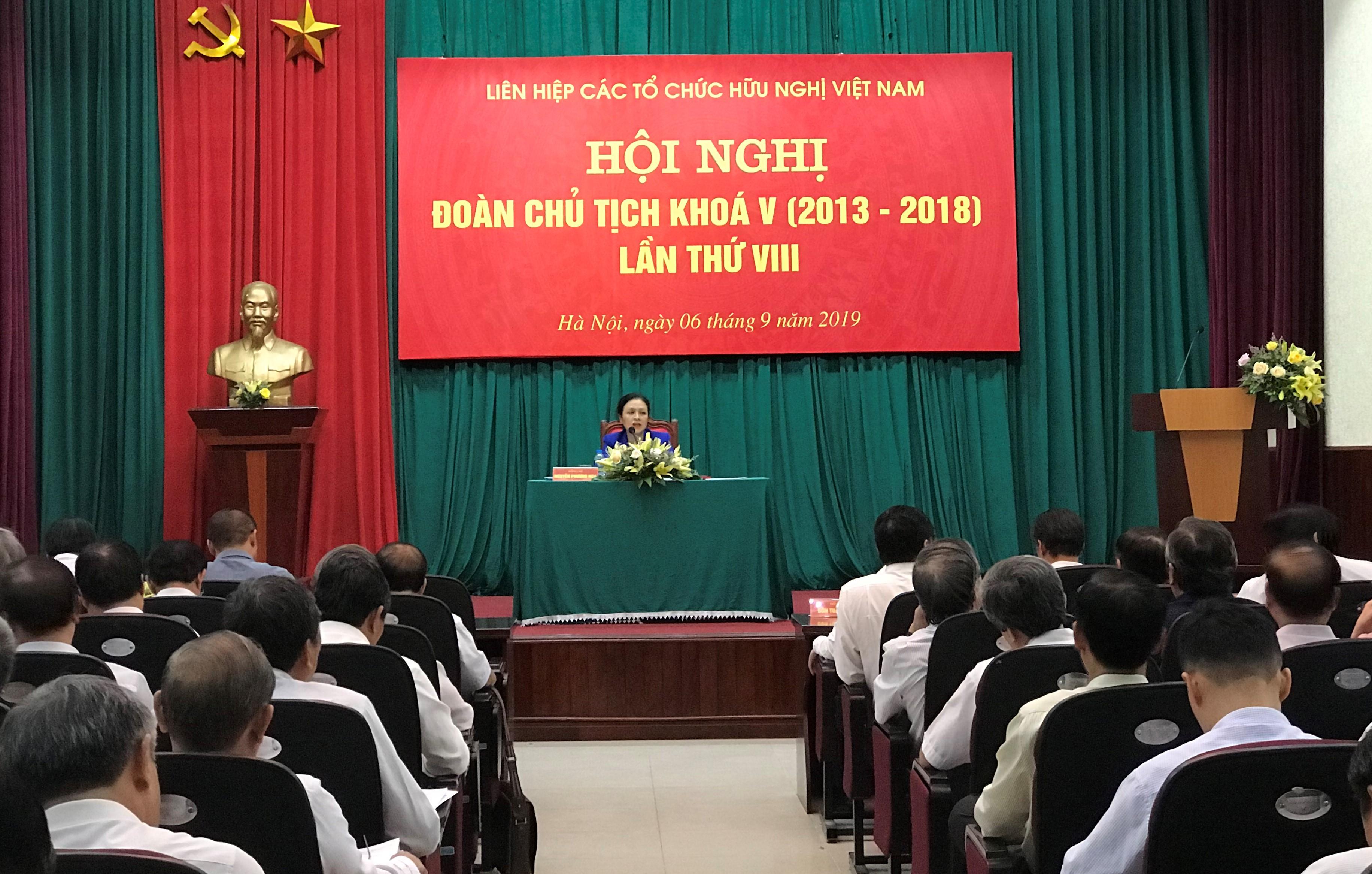 Hội nghị Đoàn Chủ tịch Liên hiệp các tổ chức hữu nghị Việt Nam lần thứ VIII, nhiệm kỳ 2013 – 2018