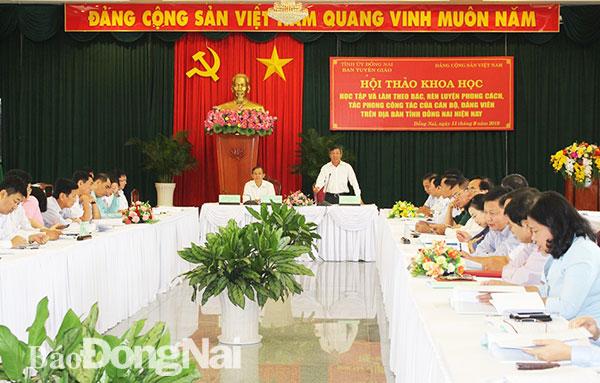 Rèn luyện phong cách, tác phong cán bộ, đảng viên trên địa bàn Tỉnh Đồng Nai